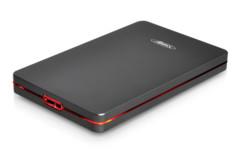 """boitier disque dur sata 2.5"""" advance steel disk BX-202U3GR en aluminium noir et rouge"""