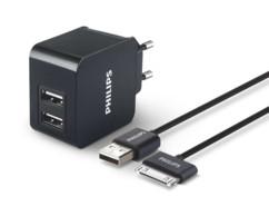 chargeur secteur 2x USB avec cable usb vers apple dock philips DLP2307I
