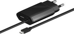 chargeur micro usb rapide 2,1a avec cable 1,5m et second port USB