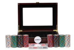"""Coffret de Poker complet - Monaco avec jeu PC """"Casino"""""""