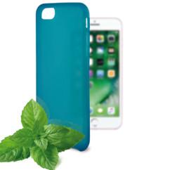 coque souple bleu pour iphone 7 7s avec odeur menthe ksix sense