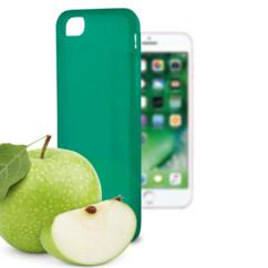 coque souple vert pour iphone 7 7s avec odeur pomme ksix sense
