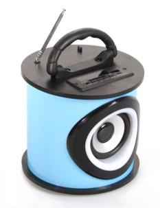 Mini enceinte bluetooth avec radio et lecteur usb sd Teknofun bleu