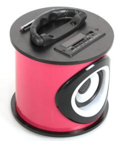 Mini enceinte bluetooth avec radio et lecteur usb sd Teknofun rose