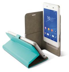 etui universel smartphone 6 pouces avec clapet folio et porte carte intérieur vert Ksix