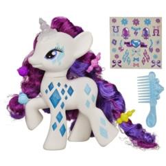 jouet figurine my little pony rarity licorne corne lumineux criniere a coiffer pour petites filles