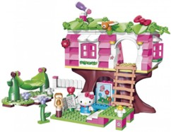Jeu de construction Hello Kitty Mega Bloks - Maison dans l'arbre