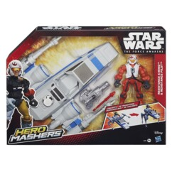 jouet hero mashers star wars x wing transformable en vehicule terrestre