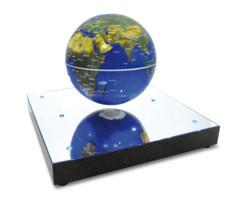 planète terre mappemonde avec reliefs flottante magnétique