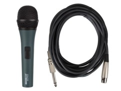 microphone dynamique filaire xlr micpro9 hqpower pour concert animation conference