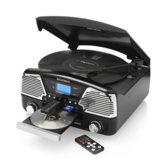 platine vinyle 33 45 78 tours avec cd usb sd et radio FM Ricatech RMC 90 Ibiza