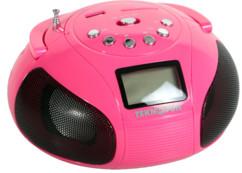 mini radio stéréo avec bluetooth et USB Teknofun mini boombox rose strass