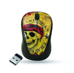 Mini souris Elypse Vogue - Sans fil - Motif Caribbean Travel