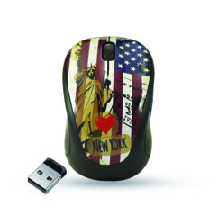 Mini souris Elypse Vogue - Sans fil - Motif New York
