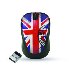 Mini souris Elypse Vogue - Sans fil - Motif Union Jack