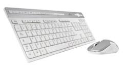 Pack clavier sans fil design ultra plat avec souris sans fil blanche bluestork easy iii 3