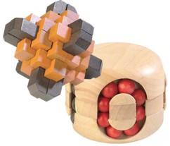 Pack de 2 casse-têtes en bois - The Cross + Perles magiques