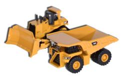 pack jouets pelleteuses caterpillar cat d11t et 797f pour enfants