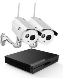 pack enregistreur vidéo surveillance avec 2 caméras full HD visortech