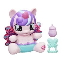 peluche parlante my little pony mon petit poney bébé flurry heart licorne avec corne lumineuse biberon jouet