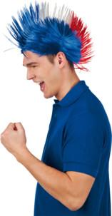 perruque punk tricolore pour euro 2016