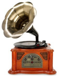 platine vynile retro style gramophone ricatech rmc350