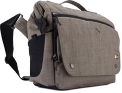 sac bandoulière pour appareil photo reflex avec objectif caselogic flxm 102 brun taupe