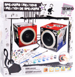 Speakers audio personnalisables Techno Art - pack Garçons