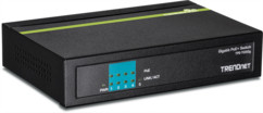 switch poe+ gigabit 5 ports trendnet tpe-tg50g
