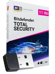 Bitdefender 2019 Total Security - 2 ans & 10 PC / Mac / mobile