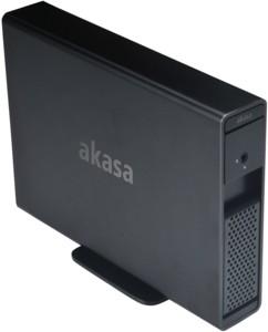 boitier disque dur 3,5 sata usb 3.0 esata akasa loxstor x31 aluminium noir avec serrure