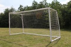 veritable but de foot pour enfant grande taille en plastique avec filet 4 metres demontable