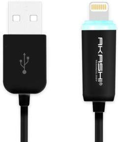 Câble compatible Lightning 1m avec indicateur de charge - Noir