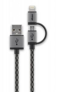 Câble Micro USB tressé Cabstone avec adaptateur Lightning - 1 m
