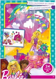 calendrier de l'avent barbie pour filles avec surprises barbie crayons autocollants tampons