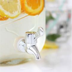 grande carafe hermetique en verre 3,5l avec robinet de service pour orangeade citronade été