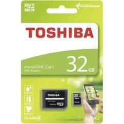 Carte Micro SDHC 32 Go Calsse 4 Toshiba avec adaptateur SD