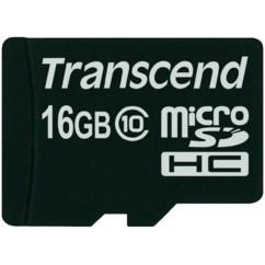 Carte Micro SDHC Class 10 Transcend - 16 Go