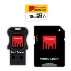 Carte Micro SDHC Strontium Nitro avec adaptateur SD et lecteur USB - 16 Go