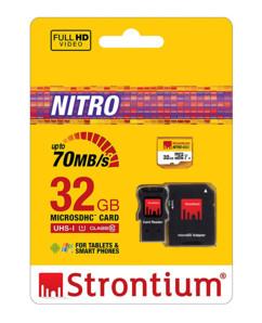 Carte Micro SDHC Strontium Nitro avec adpatateur SD et lecteur USB - 32 Go