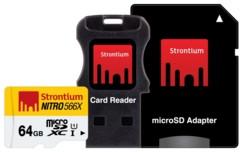 Carte Micro SDHC Strontium Nitro avec adaptateur SD et lecteur USB - 64 Go