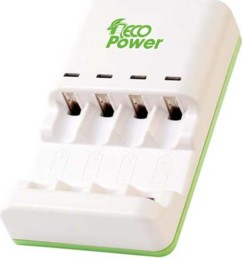 chargeur de batteries accumulateurs et piles alcalines aa aaa eco power