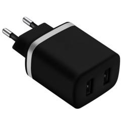 Chargeur USB secteur 2x 2,4 A - Noir