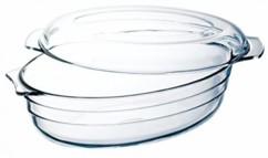 cocotte terrine en verre pour four micro ondes et congelateur 32 cm 3 litres so clear thomas