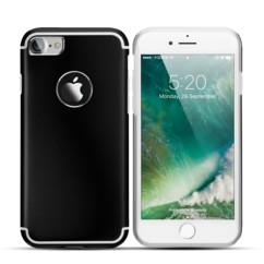 coque en aluminium noir et argent pour iphone 7 iphone 8 akashi