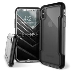Coque renforcée pour iPhone X / XS : Defense Clear - Noir