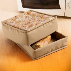 corbeille à pain chauffante en nylon compatible micro ondes elicuisine 63 07 90 98 90