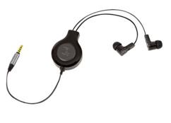 Écouteurs intra-auriculaires rétractables Retrak - Avec micro - Premium