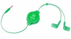 Écouteurs intra-auriculaires rétractables - Vert