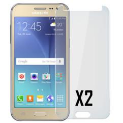 2 façades de protection en verre trempé 9H pour Samsung Galaxy J2 2018